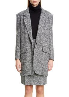 Max Mara Matassa Wool Blend Tweed Coat
