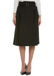 Max Mara Max Mara Wool-Blend Wrap Skirt