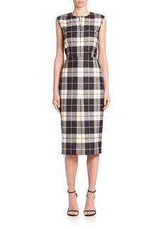 Max Mara Miriam Plaid Wool Sheath Dress