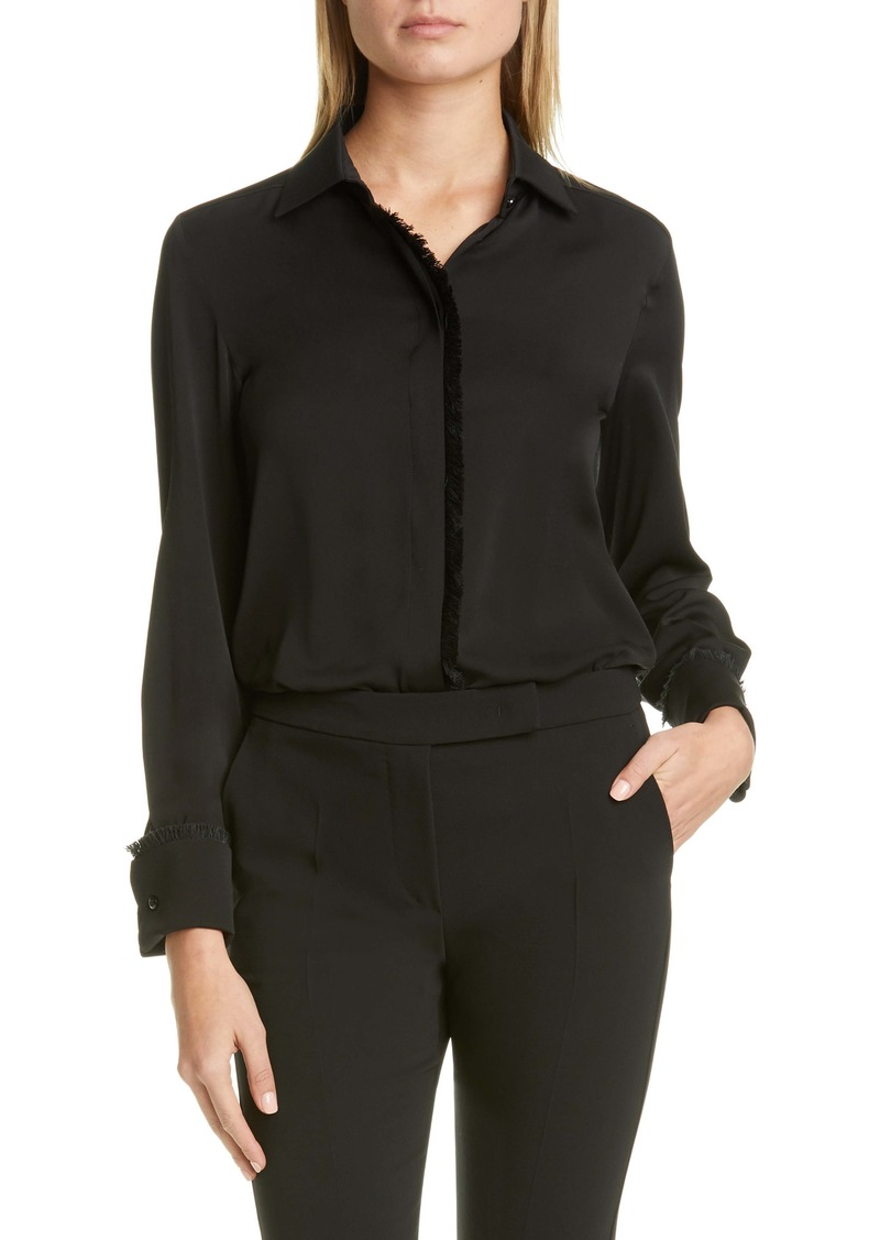 Max Mara Mogador Fringe Silk Shirt