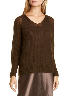 Max Mara Leisure Mohair & Wool Blend V-Neck Sweater