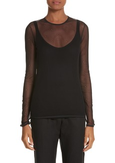 Max Mara Nadar Layered Mesh Top