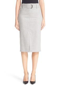 Max Mara 'Natura' Stretch Wool & Cashmere Flannel Skirt