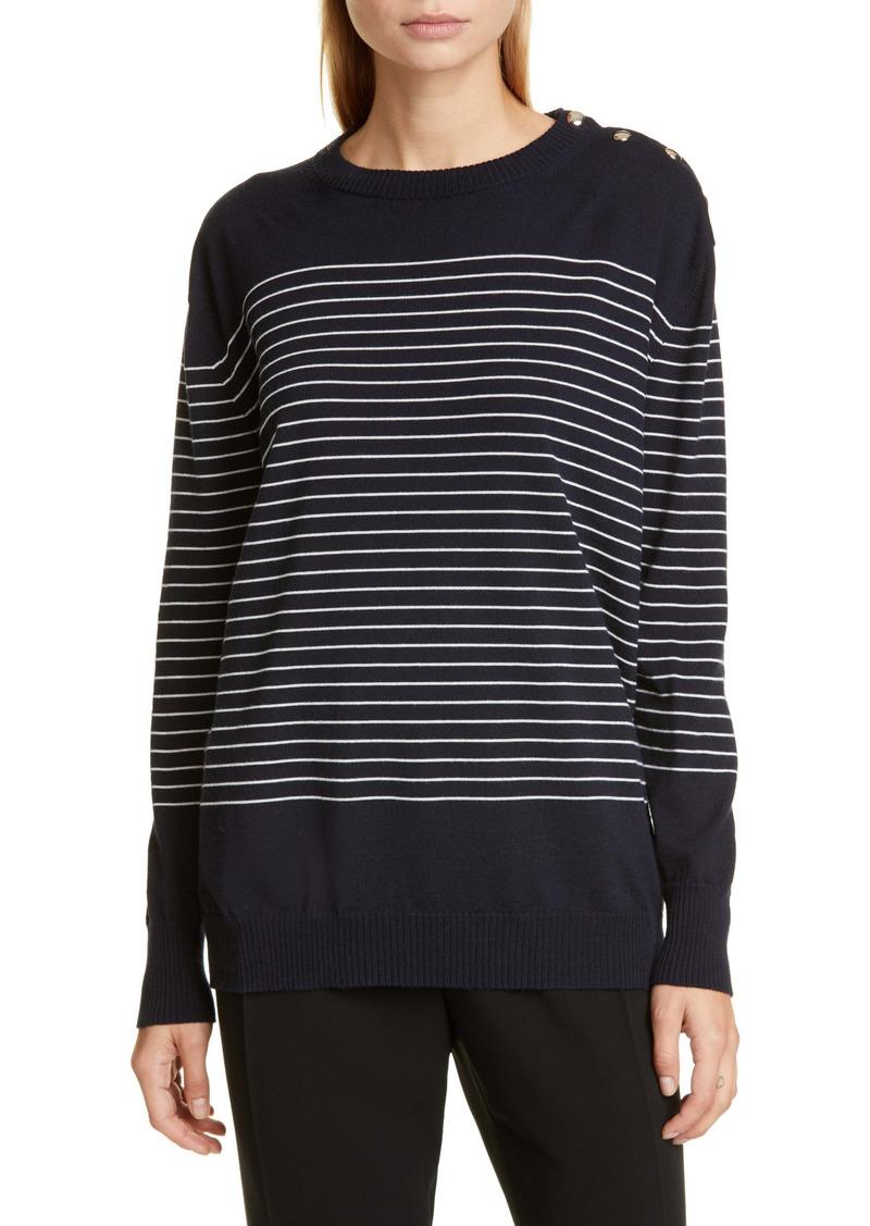 Max Mara Navona Stripe Wool Sweater