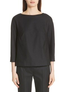 Max Mara Nectar Stretch Wool & Silk Blouse