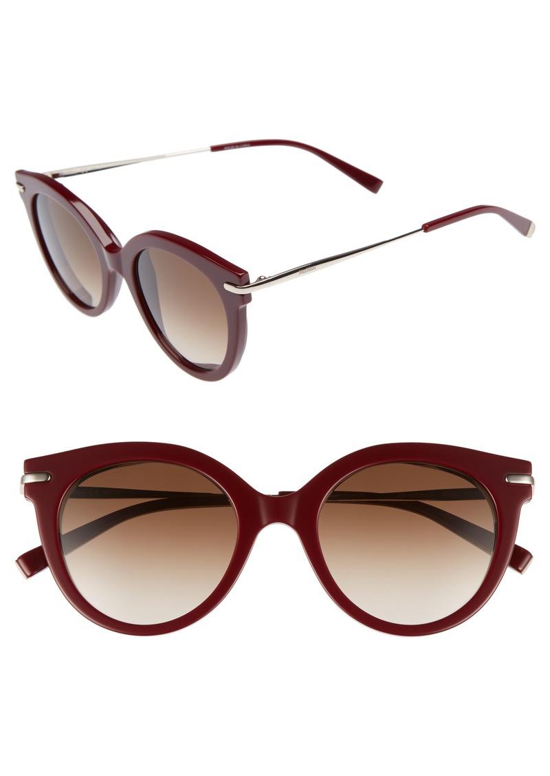 Max Mara Needle VI 50mm Gradient Round Sunglasses