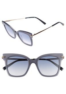 Max Mara Needliv 49mm Gradient Cat Eye Sunglasses