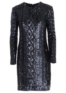 Max Mara Nicia Knit Dress W/paillettes