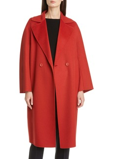 Max Mara Ode Double Breasted Wool Blend Coat