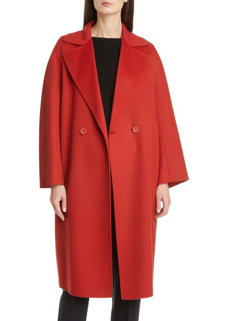 Max Mara Ode Double Breasted Wool Blend Coat