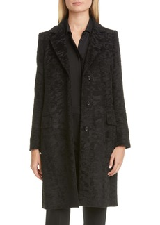 Max Mara Oncia Textured Alpaca & Wool Coat