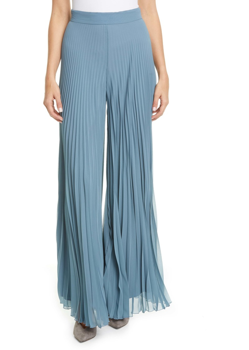 Max Mara Pagode Pleated Georgette Pants