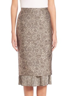 Max Mara Panfilo Jacquard Pencil Skirt