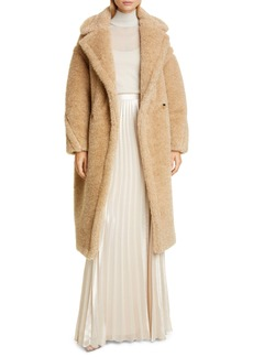 Max Mara Park Metallic Faux Fur Teddy Bear Coat