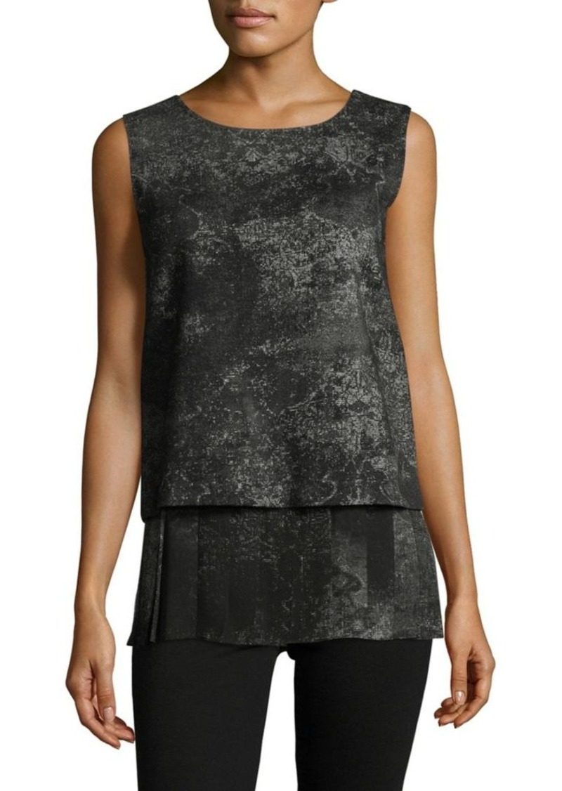 max mara max mara patterned sleeveless top casual shirts shop it to me. Black Bedroom Furniture Sets. Home Design Ideas