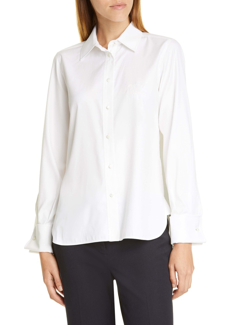 Max Mara Pegaso Cotton & Silk Shirt