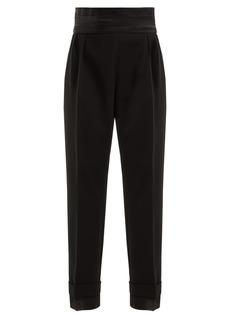 Max Mara Peplo high-rise cummerbund cady trousers