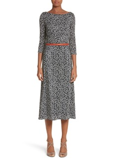 Max Mara Peter Dot Print Midi Dress