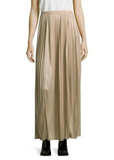 Max Mara Pleated Jersey Maxi Skirt