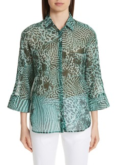Max Mara Prati Print Cotton & Silk Shirt