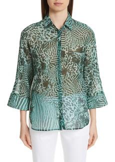 Max Mara Prati Print Cotton & Silk Shirt