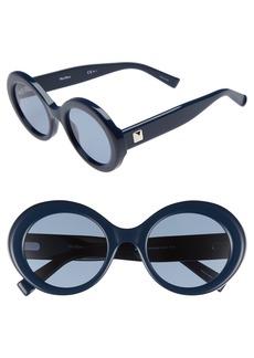 Max Mara Prism VIII 51mm Oval Sunglasses