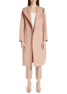 Max Mara Pucci Hooded Double Face Camel Hair Coat