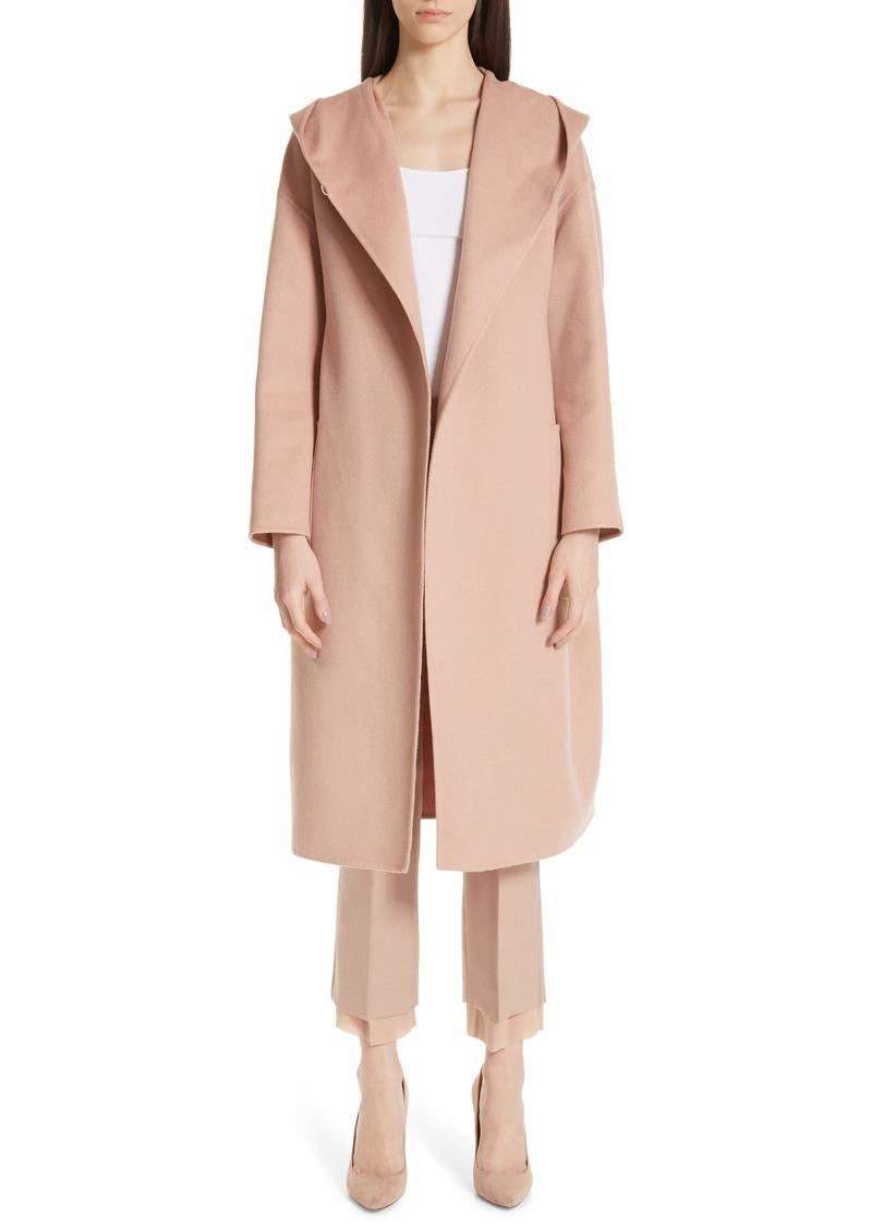 Max Mara Pucci Hooded Double Face Camel Hair Coat