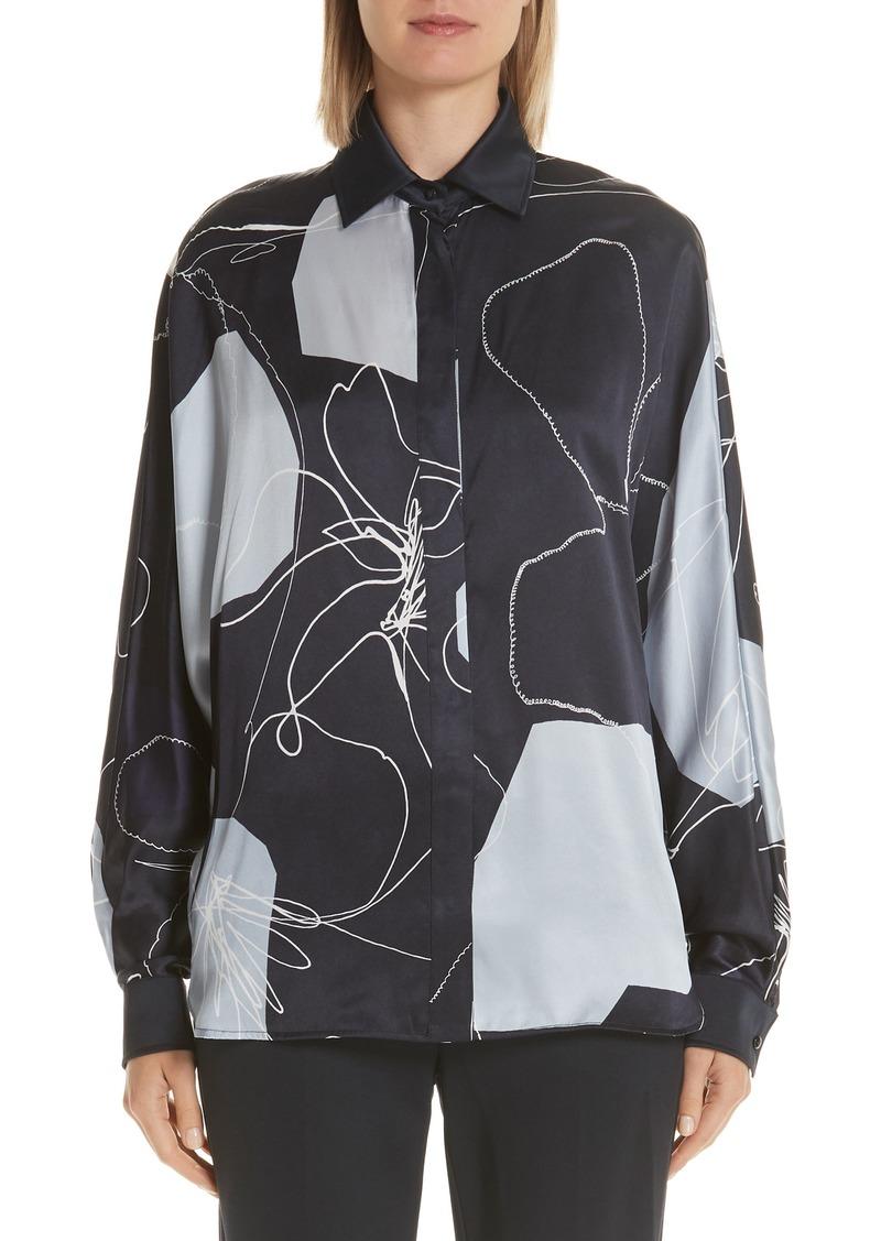 Max Mara Renna Print Silk Top