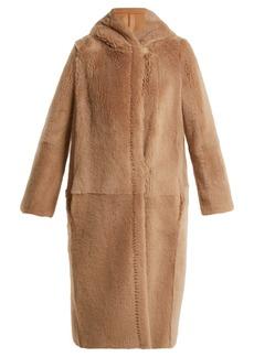 Max Mara Reversible hooded shearling coat