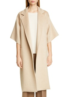 Max Mara Ruta Double Face Cashmere & Camel Hair Wrap Coat