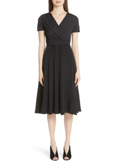 Max Mara Sandalo Polka Dot Silk Dress