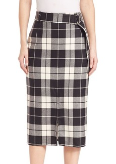 Max Mara Sapri Plaid Skirt