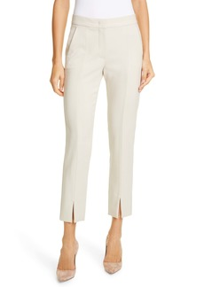 Max Mara Sassari Front Slit Stretch Wool Pants