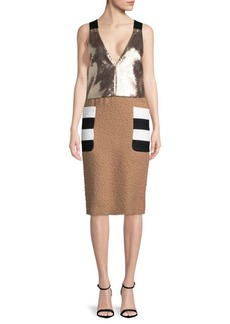 Max Mara Sequin Sheath Dress