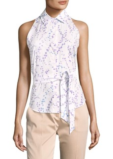 Max Mara Sleeveless Floral Blouse