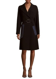 Max Mara Solid Long-Sleeve Jacket