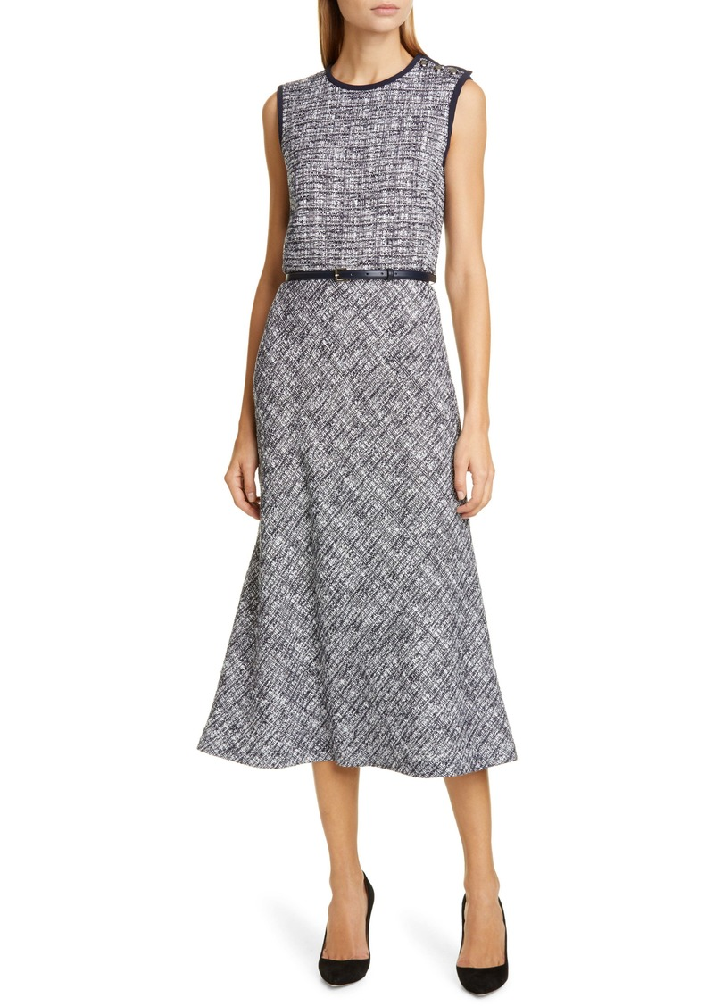 Max Mara Spadino Belted Midi Dress