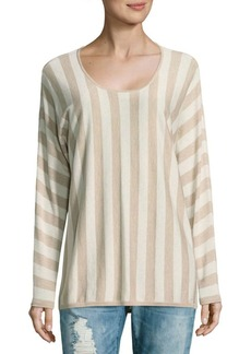 Max Mara Stripe Scoopneck Sweater