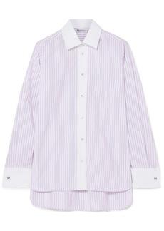 Max Mara Striped cotton-poplin shirt