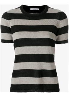 Max Mara striped knitted top - Black