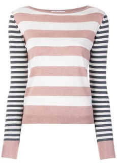 Max Mara striped knitted top - Pink & Purple
