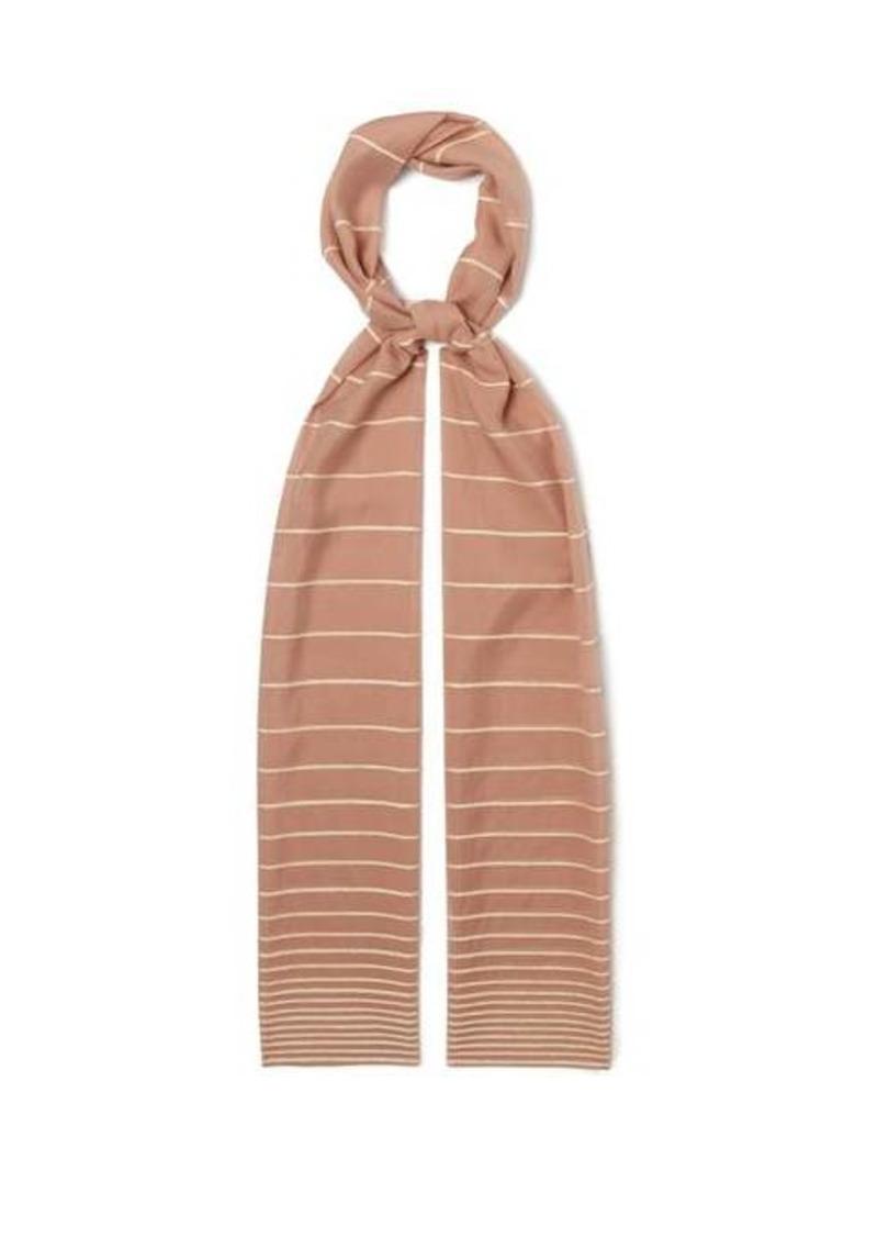 Max Mara Striped voile scarf