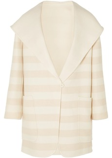 Max Mara Striped Wool And Cashmere-blend Coat