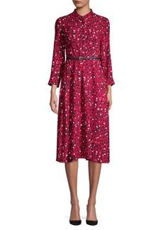 Max Mara Studio Button-Front Dotted Dress