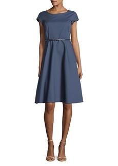 Max Mara Studio Cap-Sleeve A-Line Dress