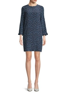 Max Mara Studio Floral-Print Ruffle-Sleeve Dress