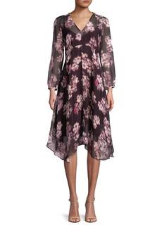Max Mara Studio Floral Printed Midi Dress