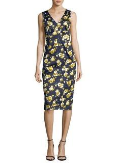 Max Mara Studio Floral Sleeveless Sheath Dress
