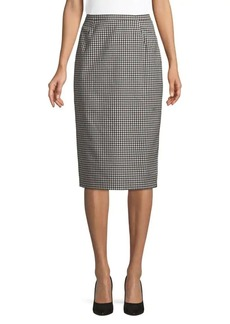 Max Mara Studio Gingham Pencil Skirt